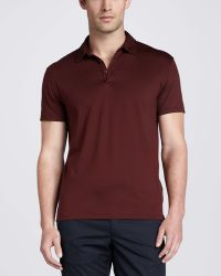 Zegna Sport - Shortsleeve Jersey Polo Red - Lyst