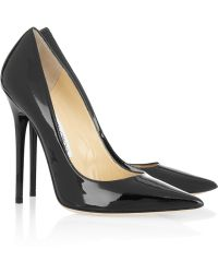 Jimmy Choo Anouk Patent-Leather Pumps - Lyst