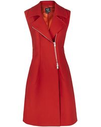 McQ by Alexander McQueen Asymmetric Zip Sleeveless Coat - Lyst
