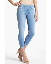 Mother The Looker Crop Skinny Jeans Light Kitty - Lyst