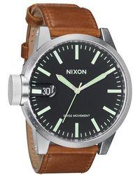 Nixon Chronicle Leather - Lyst