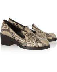 Stella McCartney Snake-Effect Faux Leather Loafers - Lyst