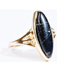 Urban Outfitters - Black Stone Ring - Lyst
