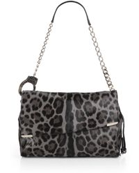 Jimmy Choo Ally Leopard print Calf Hair Handcuff Shoulder Bag - Lyst