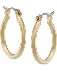 Lauren by Ralph Lauren Brass Hoop Earrings - Lyst