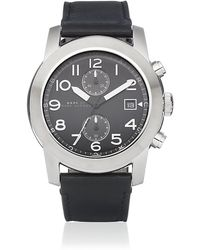 Marc By Marc Jacobs | Larry Leather Chronograph | Lyst