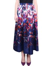 MSGM Skirt Floral Print multicolor - Lyst