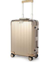 Rimowa Topas Titanium Four-Wheel Cabin Suitcase 55Cm - Lyst