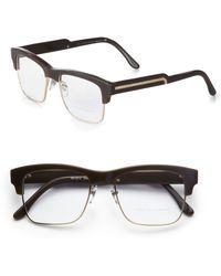 Stella McCartney Squared Acetate & Metal Eyeglasses - Lyst