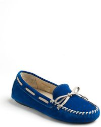 Vera Wang Lavender Dorian Suede Driving Moccasins - Lyst