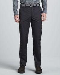Zegna Sport - Twill Cargo Pants Charcoal - Lyst
