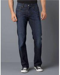 7 For All Mankind La Dark Wash Jeans - Lyst