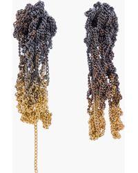 Arielle De Pinto - Gold Ombre Microchain Drip Earrings - Lyst