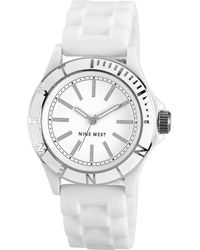 Nine West - Womens Silicone Strap 39mm Nw - Lyst