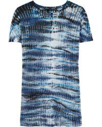 Proenza Schouler Tie dye Cotton jersey Tshirt - Lyst