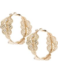ASOS Collection | Limited Edition Paisley Filigree Hoop Earring | Lyst