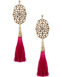 ASOS Collection Limited Edition Filigree Tassel Earrings - Lyst