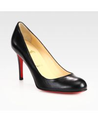 Christian Louboutin Simple 85 Leather Pumps - Lyst