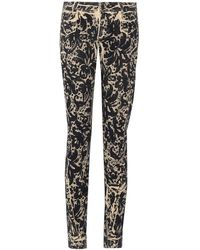 Dolce & Gabbana Cropped Low Rise Skinny Jeans - Lyst