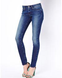 Levi's Demi Curve Id Skinny Jeans - Lyst