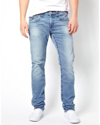 Simon Carter - True Religion Jeans Zach Slim Fit Flap Pocket Mid Drifter Wash - Lyst