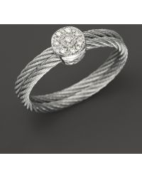 Charriol -  Nautical Cable Ring 05 Ct Tw - Lyst