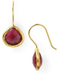 Coralia Leets - Cranberry Mini French Wire Earrings - Lyst