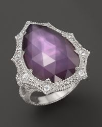 Judith Ripka Bright Nite Large Pear Stone Ring - Lyst