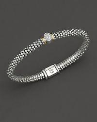 Lagos - Twilight Caviar Bracelet With One Diamond Station, 6mm - Lyst