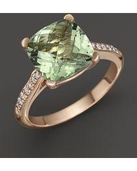Lisa Nik - 18k Rose Gold Prasiolite and Diamond Ring - Lyst