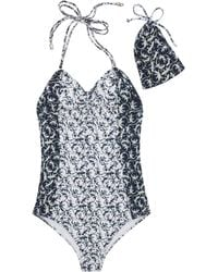Mulberry - Bandeau One Piece - Lyst