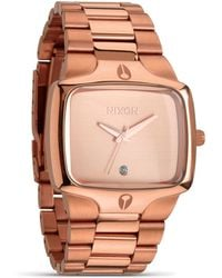 Nixon The Player All Rose Gold Watch 40mm - Lyst