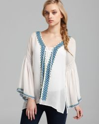 Plenty by Tracy Reese - Quotation Blouse Peasant Silk - Lyst