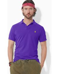Ralph Lauren | Polo Customfit Shortsleeved Cotton Mesh Polo | Lyst