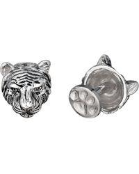 Robin Rotenier | Rotenier Sterling Silver Antiqued Tiger Cufflinks | Lyst