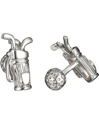 Robin Rotenier | Rotenier Sterling Silver Golf Set Cufflinks | Lyst