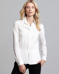 Theory Shirt Feffa Luxe Peplum - Lyst