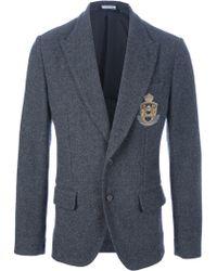 Dolce & Gabbana Crested Wool Blazer - Lyst