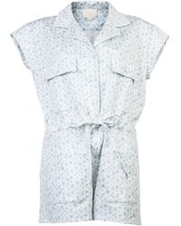 Girl by Band of Outsiders - Printed Playsuit - Lyst