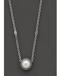 Lagos - Sterling Silver And Pearl Pendant Necklace - Lyst