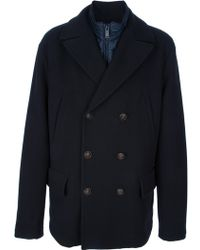Pal Zileri | Double-Breasted Wool Coat | Lyst