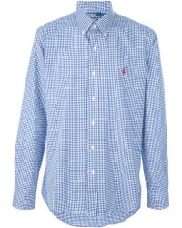 Ralph Lauren Blue Label - Checked Button Down Shirt - Lyst