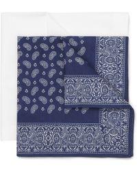 Derek Rose Twopack Cotton Handkerchiefs - Blue