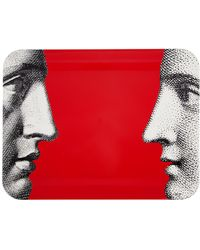 Fornasetti - Profili On Red Tray - Lyst