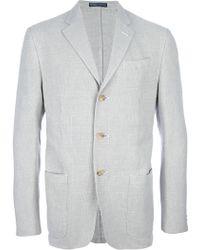 Ralph Lauren Blue Label - Contrast Button Blazer - Lyst