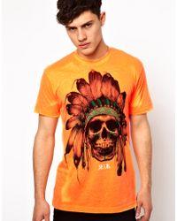 Rook - Tshirt Chief Neon Skull - Lyst