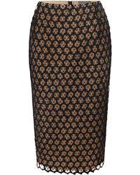 Alexander McQueen Honeycomb Lace Macramé Pencil Skirt - Lyst