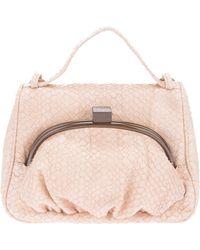 Erva - Textured Contrast-Clasp Shoulder Bag - Lyst