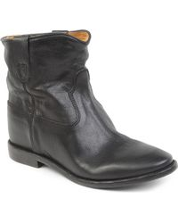 Isabel Marant Cluster Leather Concealed Wedge Ankle Boots - Lyst