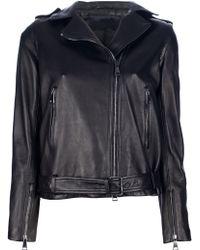 MSP - Leather Biker Jacket - Lyst